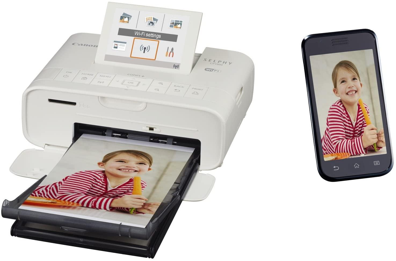 Canon CP1300 Spalvotas, Dye-sublimation thermal transfer spausdinimas system, Selphy Photo spausdintuvas, Wi-Fi, Baltas