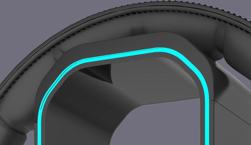 Canyon 3 in 1 Ausinių stovas, pelės laido laikiklis ir USB šakotuvas, su pašvietimu, Juodos spalvos