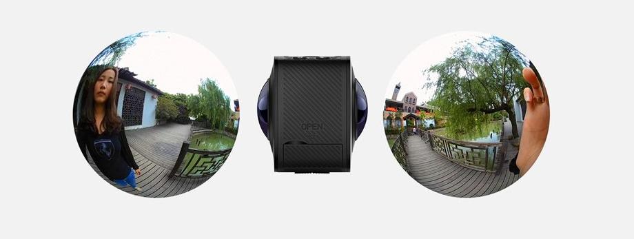 ELECAM 360 Action Camera Video Kamera 360 (Juoda)