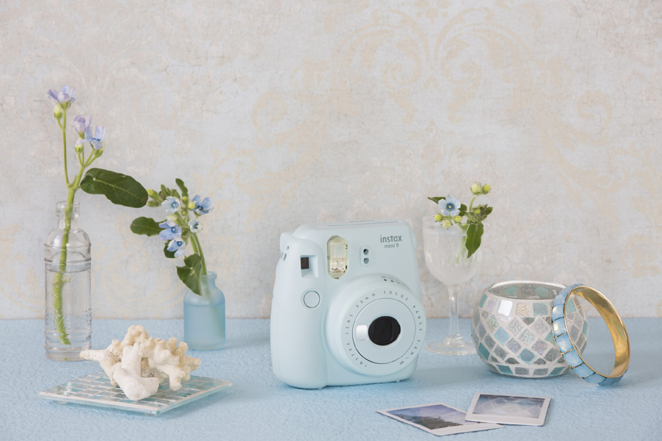Fujifilm Moment.fotoap.instax mini 9 šviesiai mėlynas+instax mini glossy (10pl)