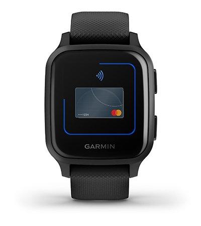 Garmin Venu Sq (010-02426-10), NFC-Music Skalūnų spalvos aliuminio apvadas su juodu korpusu ir silikoniniu dirželiu