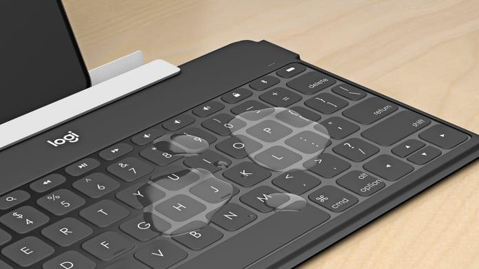 Logitech Keys-To-Go itin lengva Bluetooth klaviatūra, UK išdėstymas