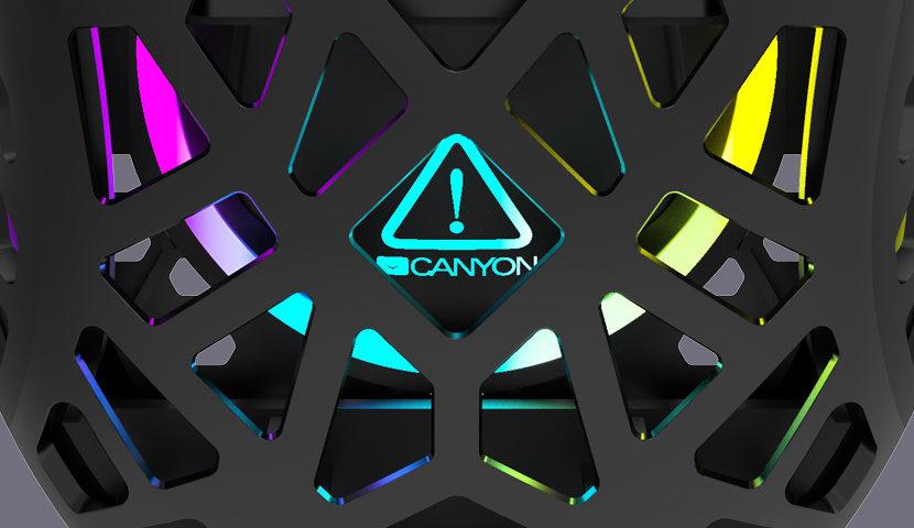 Pelė žaidimams Canyon Puncher GM-20, su pašvietimu, 7 programuojami mygtukai, Juoda