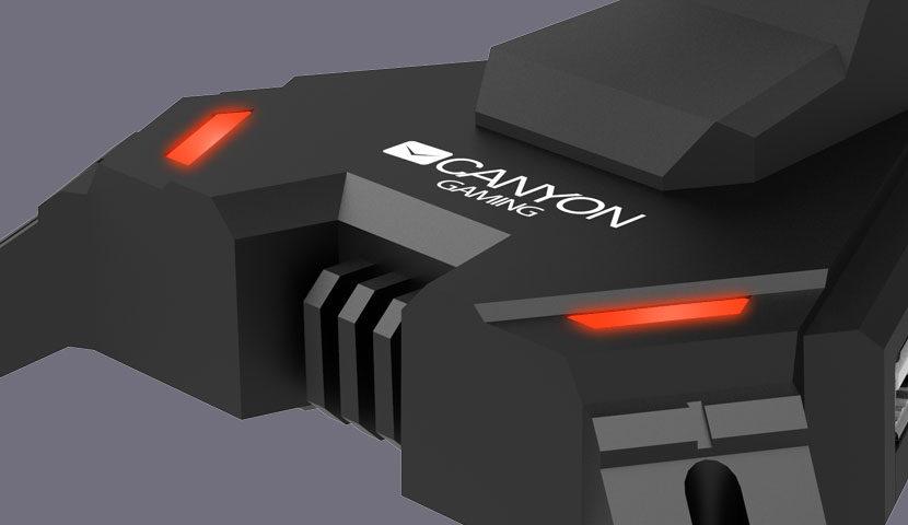 Pelės laido laikiklis su USB šakotuvu Canyon 2 in 1 Gaming Bungee
