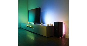 "Philips Hue Baltas and colour ambience Stalo lempa ""Bloom"""