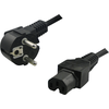LOGILINK CP105 LOGILINK - Power cord, safety plug 90 to IEC C15 female, 2m, juodas