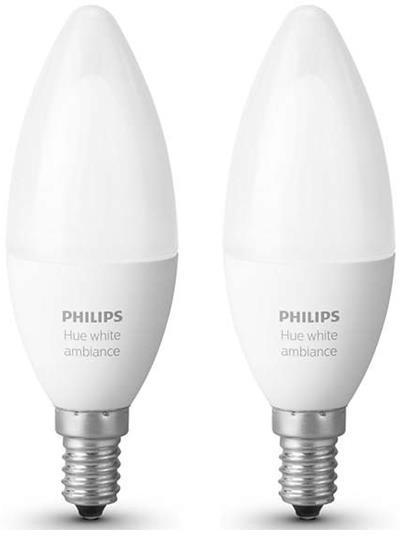 Philips Hue Lampen E14.Philips Hue Led E14 2er Erweiterung Baltas 6w Varle Lt