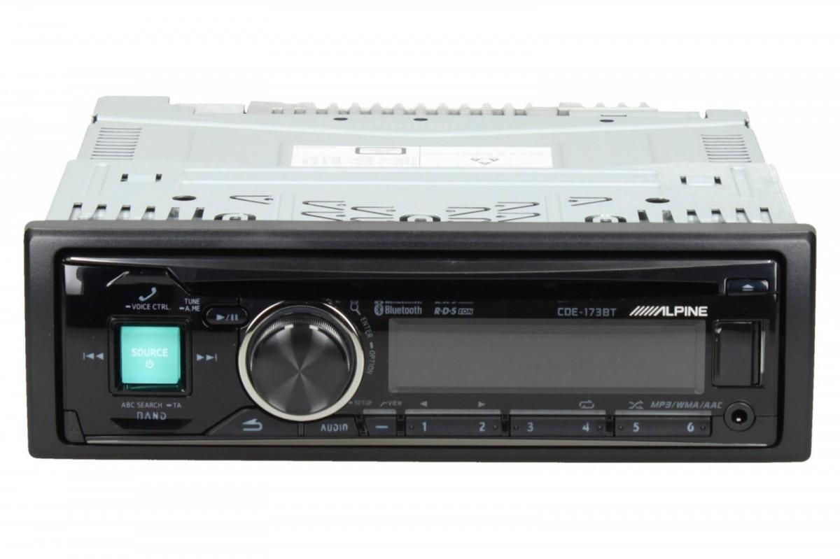 alpine cde 173bt car stereo bluetooth front aux input. Black Bedroom Furniture Sets. Home Design Ideas