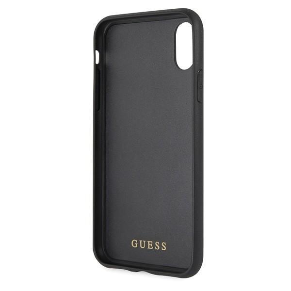 Guess GUHCI65TGGGBK iPhone XS Max Juodas Hard case Classic Double Layer Glitter