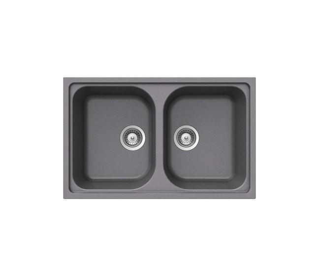 Acquaio Da Cucina.Teka 40143487 Alba 80 B Tg Granito Lavello Da Cucina Con Ciotola Doppia In Alluminio