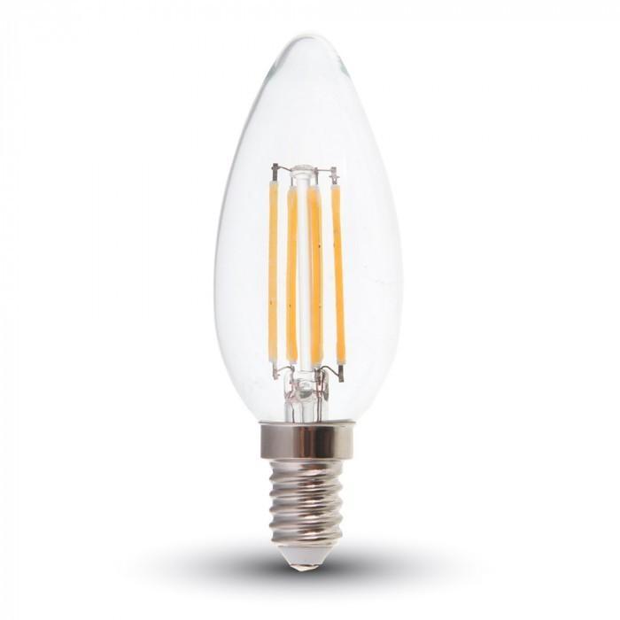 Lampadine Led E14.Samsung Lampadina Led Filamento Candela E14 6w Bianco Caldo 2700k Classe Di Efficienza Energetica A