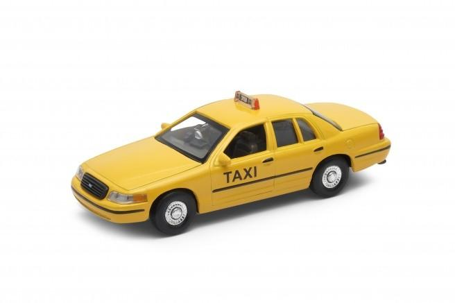 Welly Ford 1999 Crown Victoria, Taxi 1/34 - Įvairus transportas
