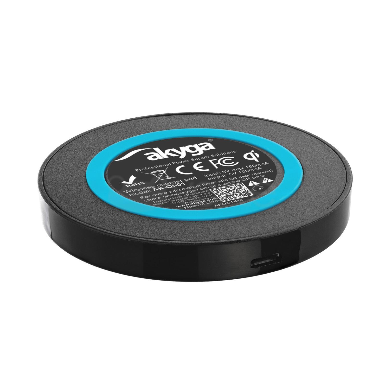 783c125a23 ... Akyga Wireless Induction Charger QI AK-QI-01 5V max 1000mA ...