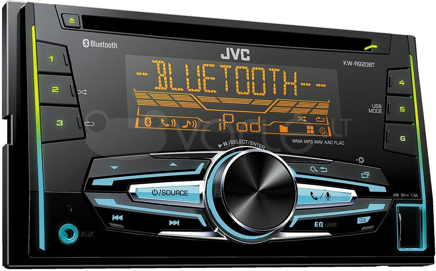 automagnetola jvc kw r920bt bluetooth double din stereo. Black Bedroom Furniture Sets. Home Design Ideas