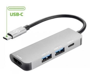 CELLY HUB TYPEC TO USB USBC HDMI - Adapteriai