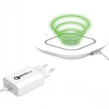 CELLY WIRELESS FAST CHARGER+WALL CHARGER+CABLE - Baterijos ir įkrovikliai (Telefonams, planšetėms)