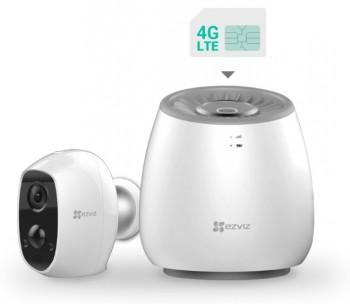 EZVIZ WIRE-FREE CAMERA LTE BASE STATION W 1 BATTERY CAMERA - Tinklo kameros, monitoringas ir priedai