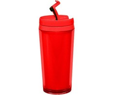 zakdesigns Hot Beverage Tumbler, Raudona, 400 ml