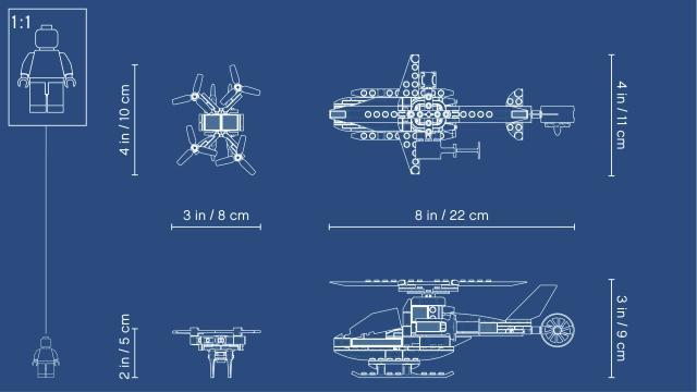 60207 Lego City Sky Police Drone Chase 60207 Varlelt