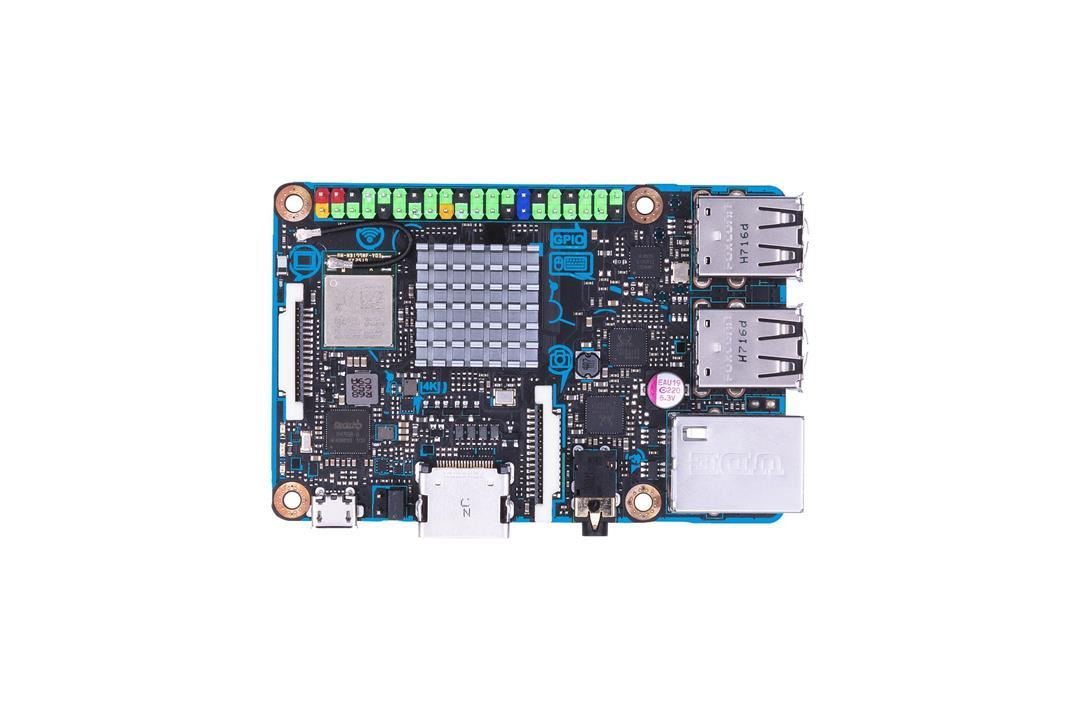 Pagrindinė plokštė ASUS TINKER BOARD S,Rockchip Quad-Core RK, 2GB  DUAL-DDR3, 16GB eMMC