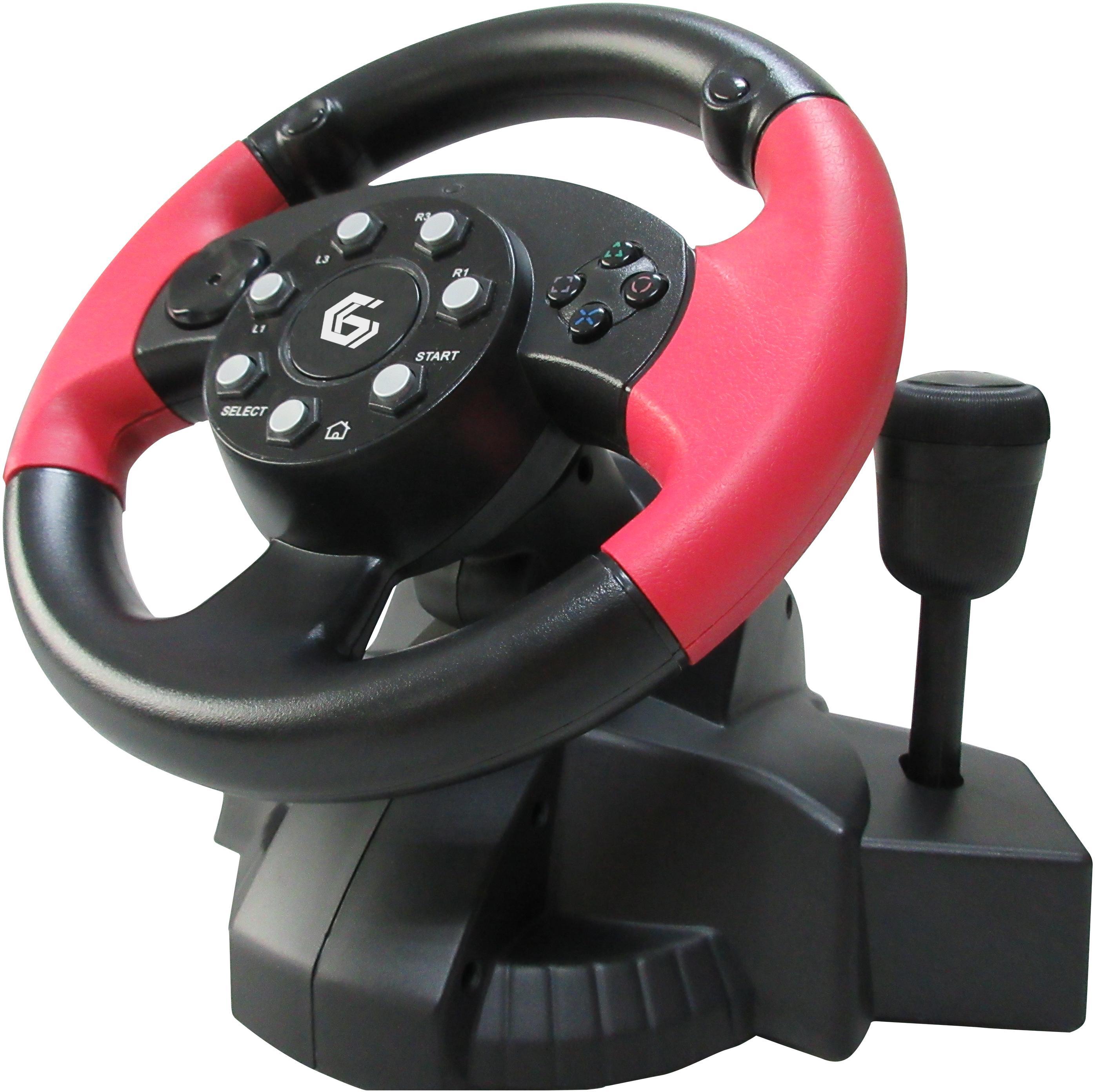 gembird usb vibrating racing wheel pc ps2 ps3. Black Bedroom Furniture Sets. Home Design Ideas