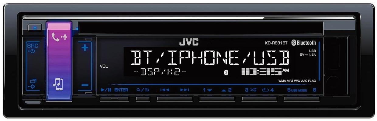 automagnetola jvc kd r881bt car stereo bluetooth front. Black Bedroom Furniture Sets. Home Design Ideas