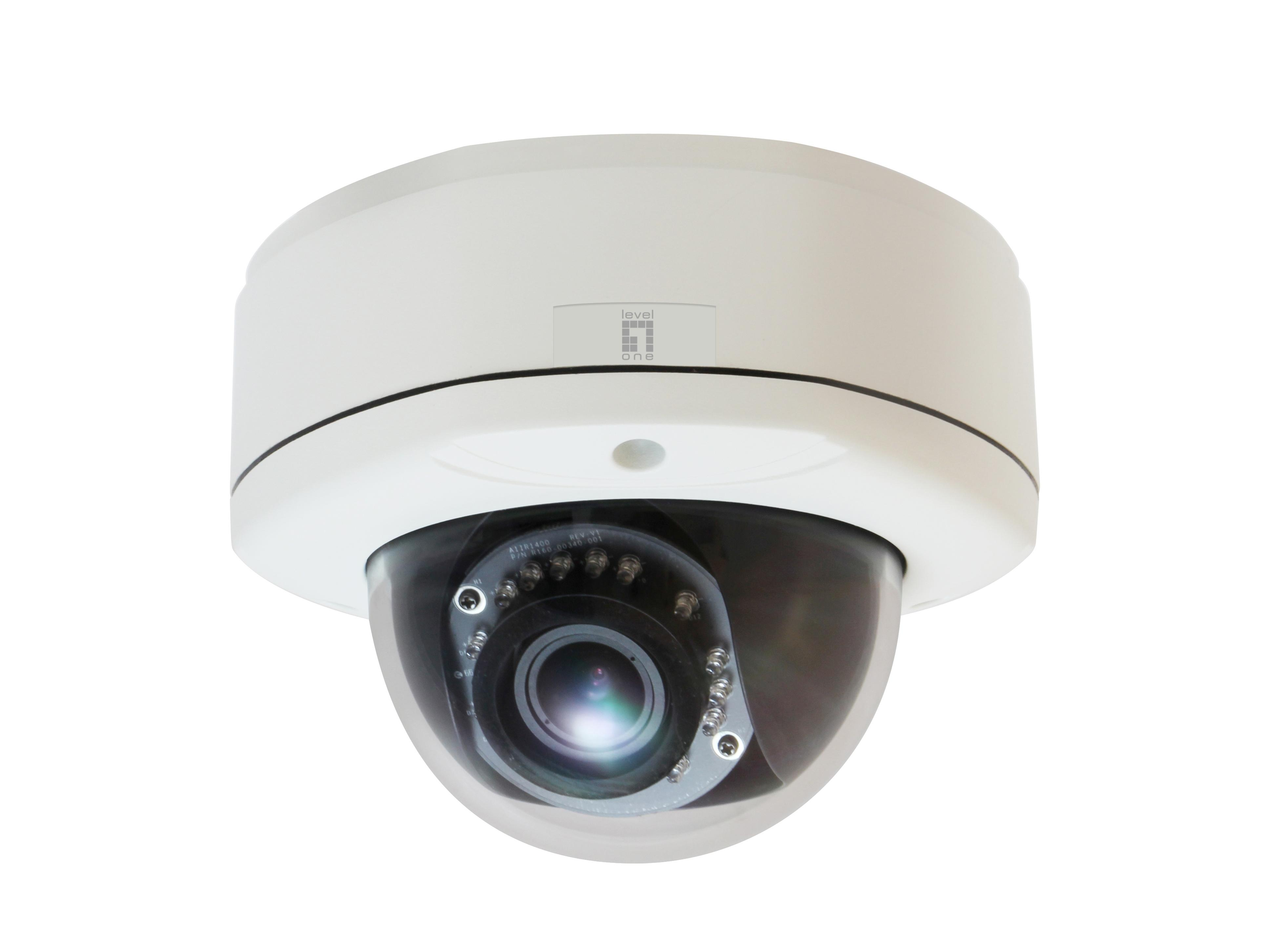 Level One LevelOne IPCam FCS-3082 Dome Out 3MP H.264 IR6,5W PoE - Tinklo kameros, monitoringas ir priedai
