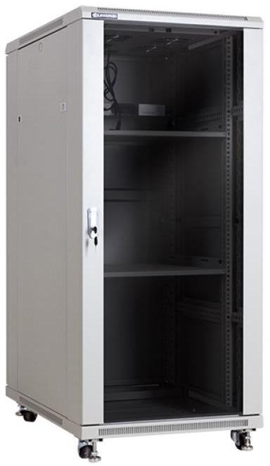 linkbasic rack cabinet 19'' 27u 600x1000mm pilkas (smoky-pilka