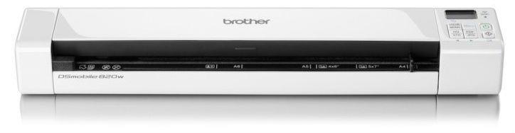 Skeneris brother ds 820w mobile scanner wifi usb for Brother ds 820w wireless mobile color page scanner