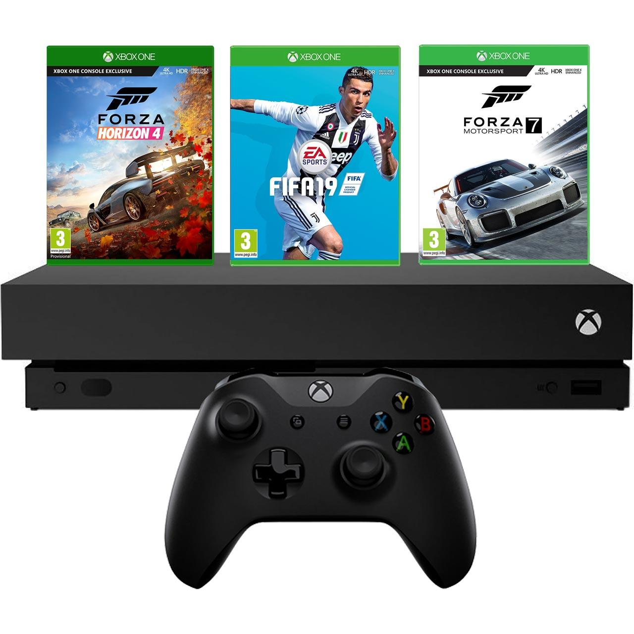 microsoft xbox one x 1tb juodas forza horizon 4 forza. Black Bedroom Furniture Sets. Home Design Ideas
