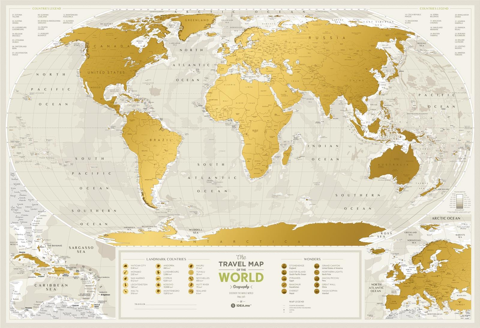 Picture Of A Map Of The World.Travel Map Geography World