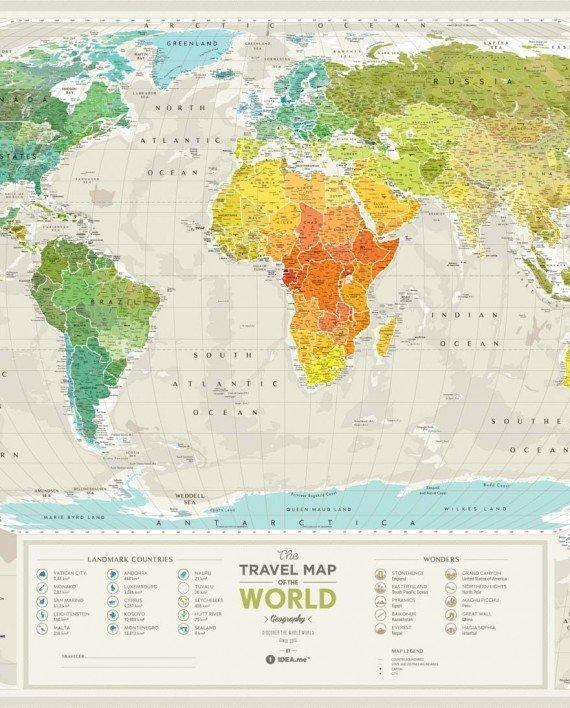 Map Of The World Picture.Travel Map Geography World