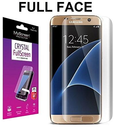 Protective Crystal Fullscreen MyScreen Protector – Tempered Glass 0 15 mm –  Hardness 3H – Protects PART Curve – For Samsung Galaxy S7 Edge