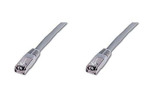 Grey SF//UTP Goobay 50144 CAT 5e Patchcable 1m Cable Length