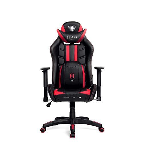 Poltrone Da Gaming.Diablo Chairs Diablo X Ray Sedia Gaming Poltrona Da Ufficio Braccioli 2d Design Ergonomico Perforazione Finta Pelle Funzione Di Inclinazione Portata