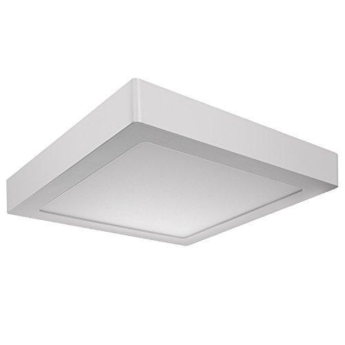 Plafoniera Led Slim.Maclean Led4u Ld156w Led Panel Ceiling Lamp Surface Mount Wall Mounting Slim 18w Square 18w Warm Baltas