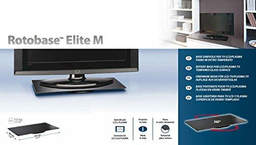 Meliconi Tv Meubel.Meliconi Rotary Stand For For Led Lcd And Plasma Tv Rotobase Elite M Tempered Glass