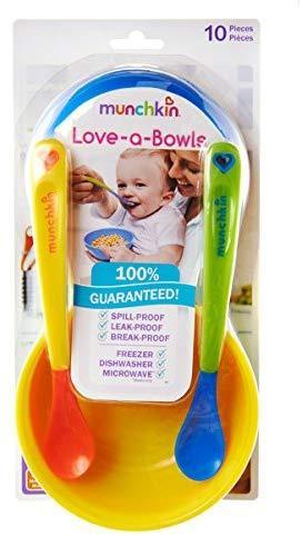 10-teilig Munchkin Love-a-Bowls Schalen und L/öffelset