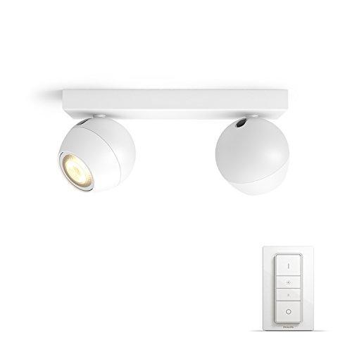 Faretto Led Spot.Philips Hue Dimmer Switch Included Buckram Double Spotlight Smart Lighting Spot Baltas Led Gu10 Cool Baltas 250 Lm
