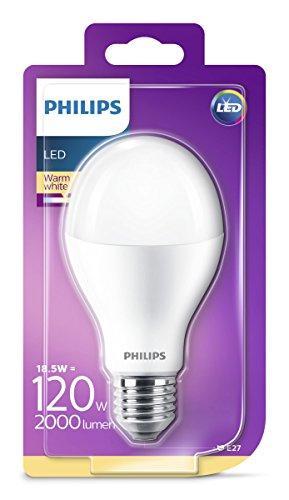 Attacco Lampadina E 27.Philips Lampadina Led Attacco E27 18 5 Equivalenti A 120 W Bianco Classe Di Efficienza Energetica A