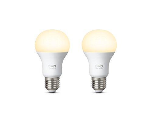 Lampadine Philips Led.1x2 Philips Hue Led Lamp E27 9 5w 60w Warm Baltas 800lm