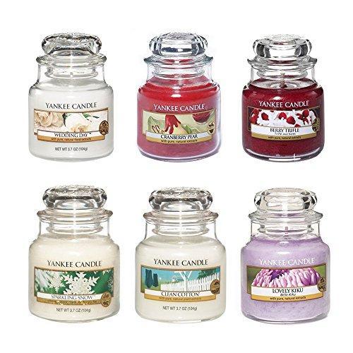 Candele Yankee Candle.Yankee Candle Set Di 6 Candele Da 104 G Fragranza Aromi Freschi Aromi Floreali E Aromi Di Frutta