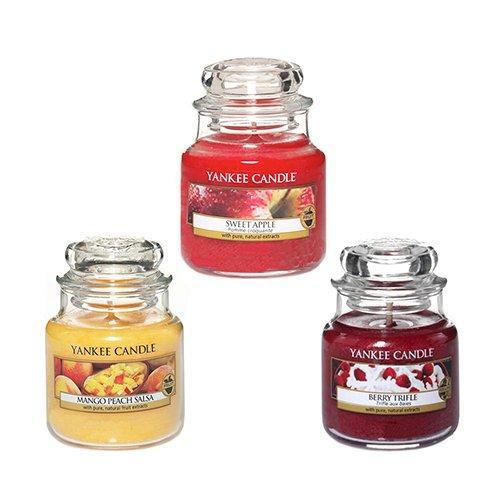 Candele Yankee Candle.Yankee Candle Set Di Candele Mango Peach Salsa 104 G Fragranza Sweet Apple 104 G