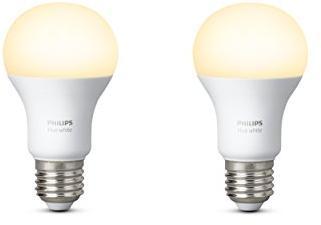 Philips Hue Lampen.1x2 Philips Hue Led Lamp E27 9 5w 60w Warm Baltas 800lm
