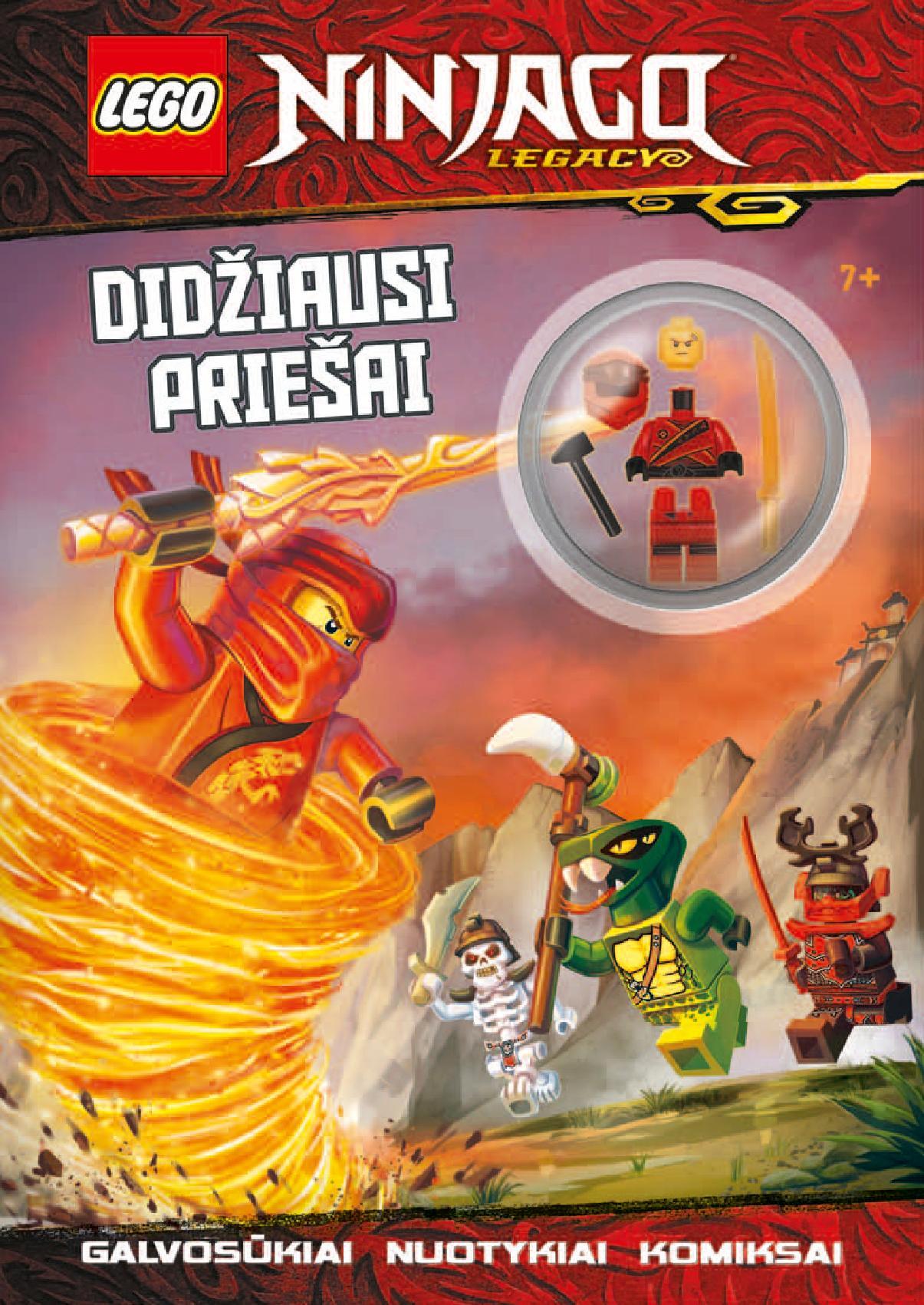 KNYGA LEGO® NINJAGO®  Didžiausi priešai