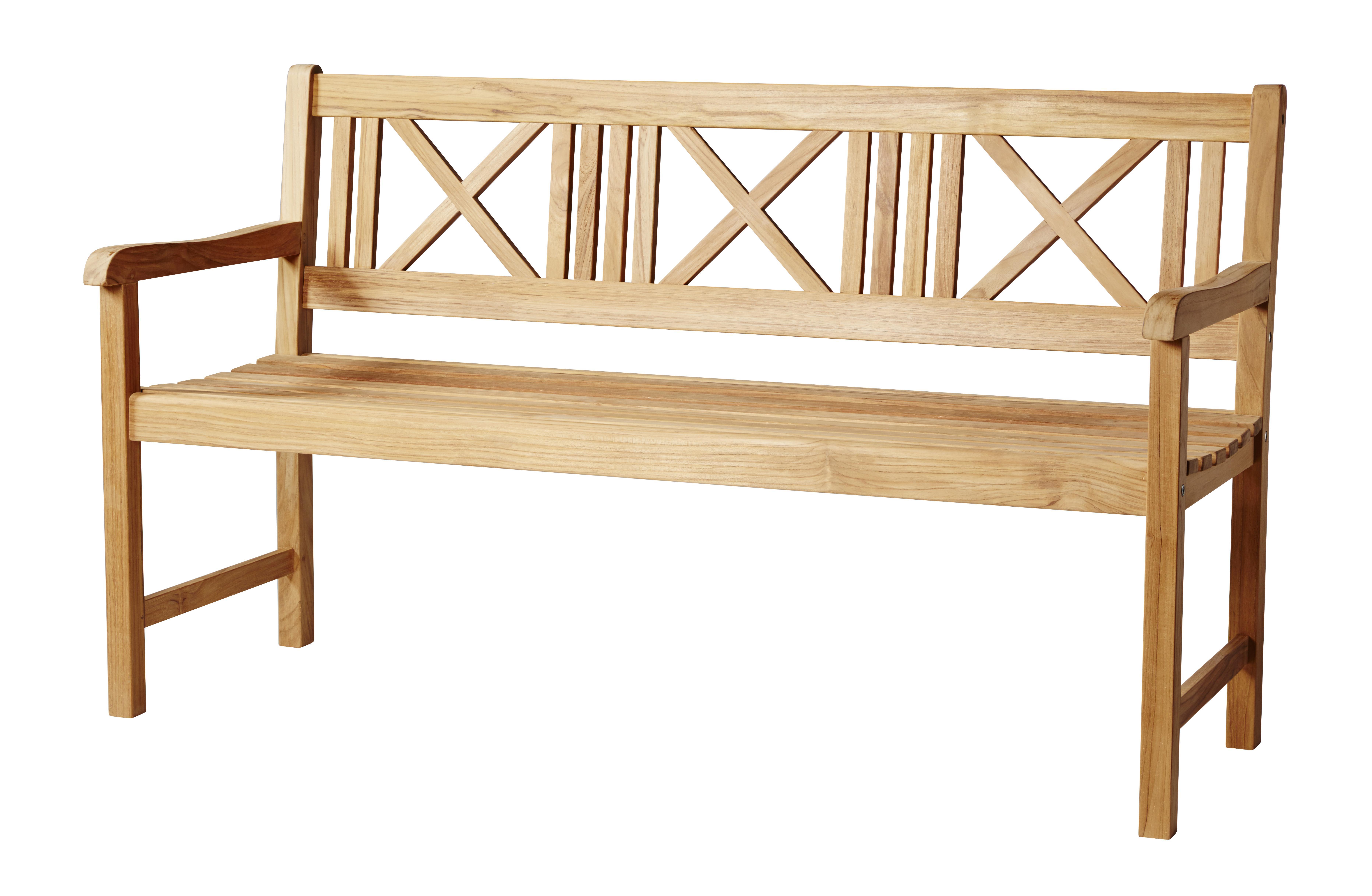 Plank 150 Cm.Cinas Rosenborg Bench 150 Cm Teak 4501000
