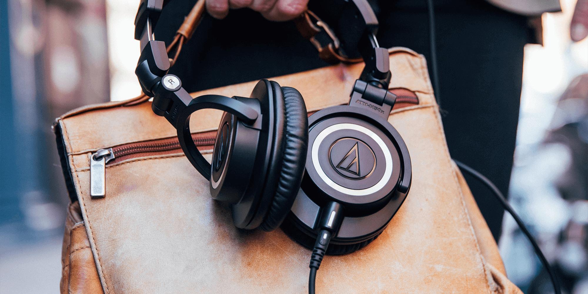 Profesionalios Monitorinės ausinės Audio-Technica ATH-M50X, juodos