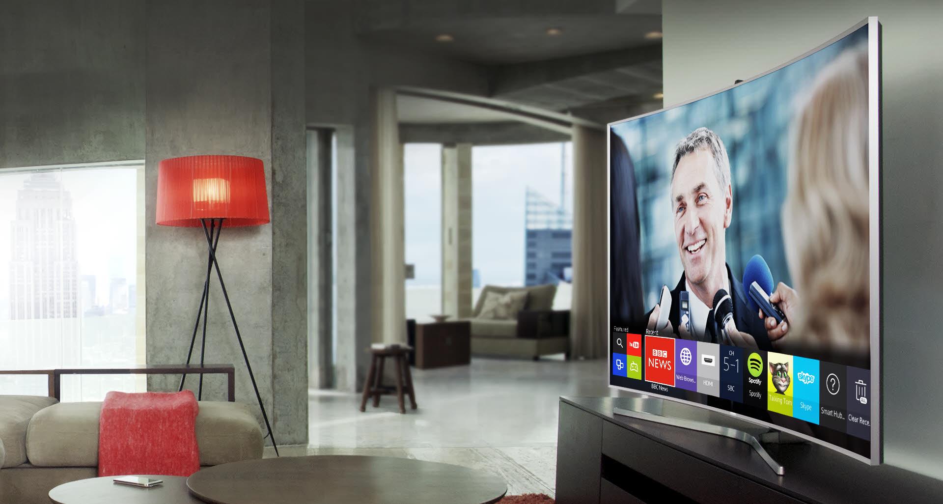 Televizorius SAMSUNG 48inch Curved FHD TV UE48J6302AK