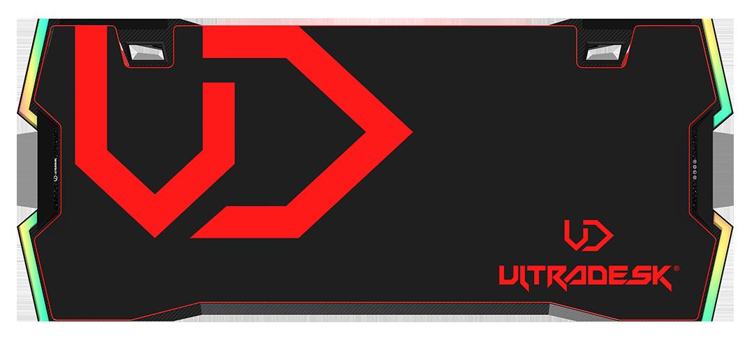 Žaidimų stalas Ultradesk Force Gaming Desk, LED RGB Prismatic, Baltas