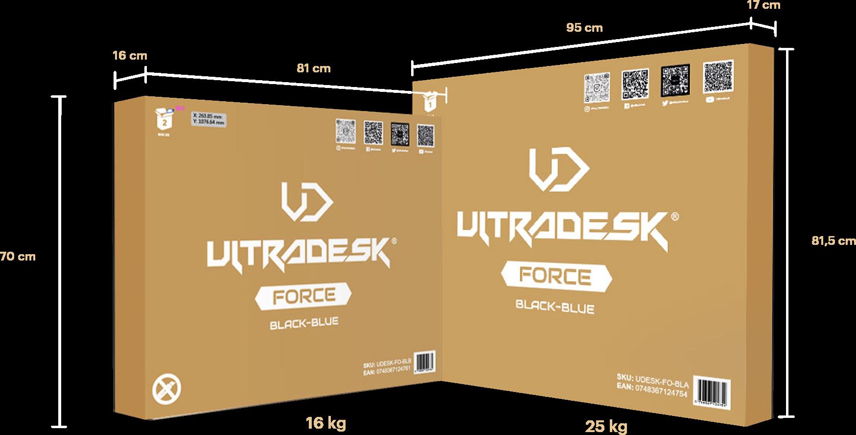 Žaidimų stalas Ultradesk Force Gaming Desk, LED RGB Prismatic
